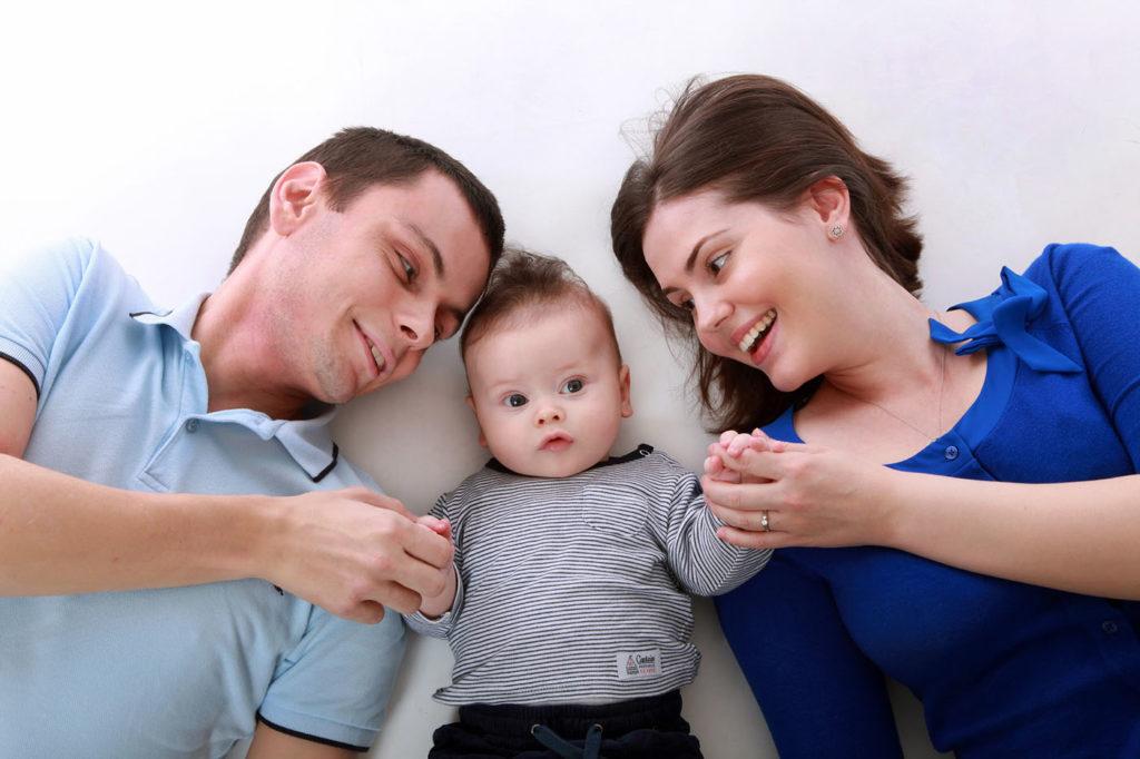 Predškoláčik, mamička a ocko